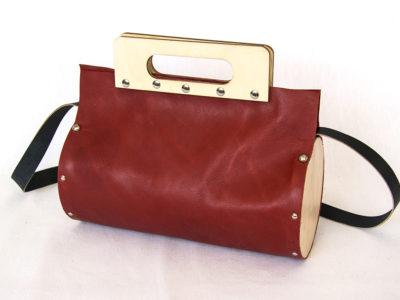 Bolso Cembra redondo color rojo