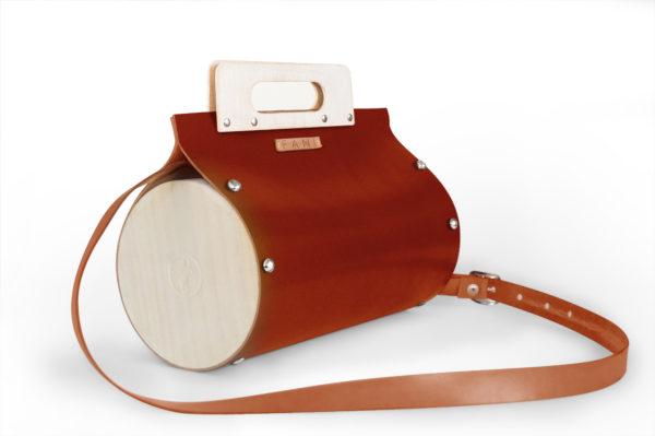 Bolsos de madera Bolso de piel y madera modelo Mugo